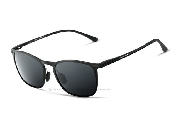 VEITHDIA Retro Aluminum and Magnesium Branded Sunglasses