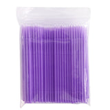 4 colors 100pcs/lot Durable Micro Disposable Eyelash Extension Individual Applicators