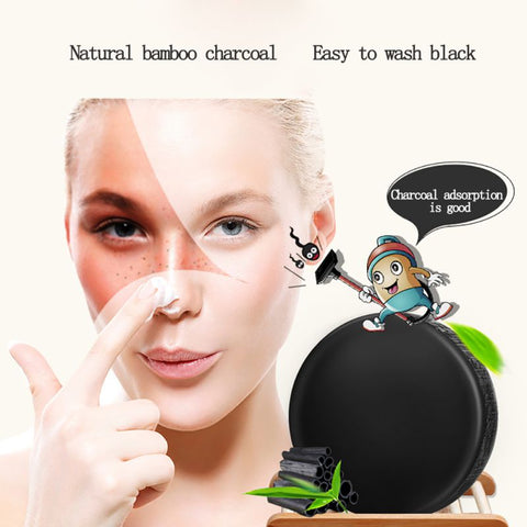 Black Bamboo Charcoal Soap For Face cleaning and whitening