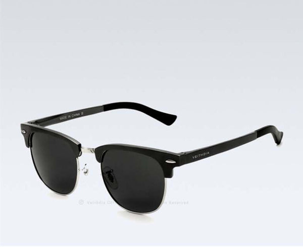 Retro Aluminum Magnesium Brand Mens Sunglasses Polarized Lens