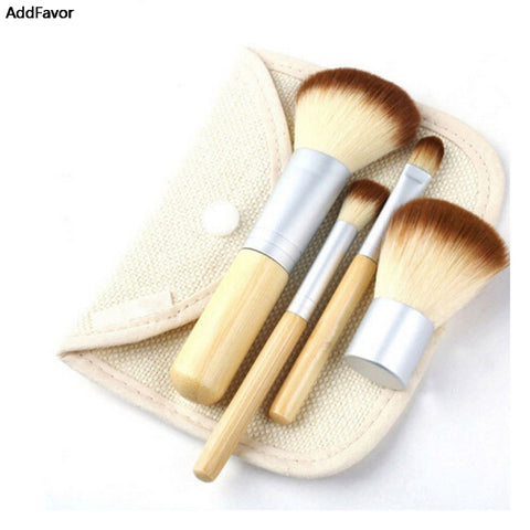 AddFavor 4Pcs Powder Blush Eye Shadow Brushes For Make up