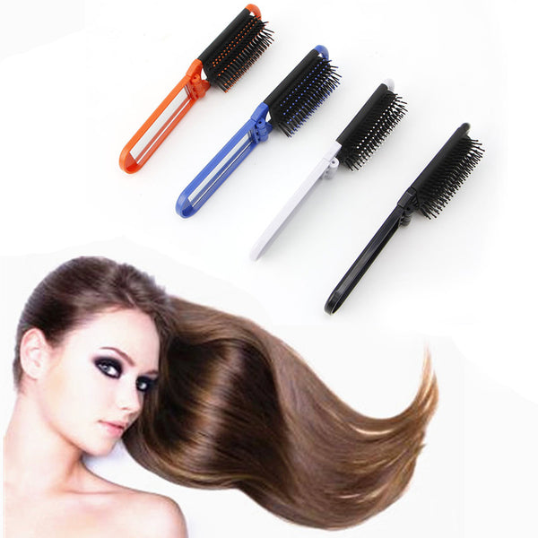 High Quality Hair Comb Brush Portable Hairs Brushes With Mirror