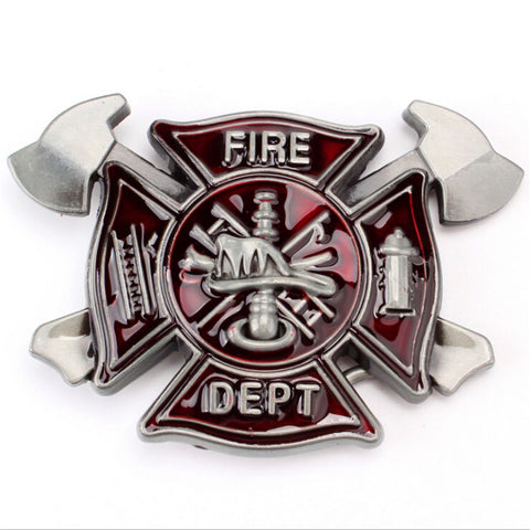 Metal Belt buckle custom fire fighter 3.8 cm head