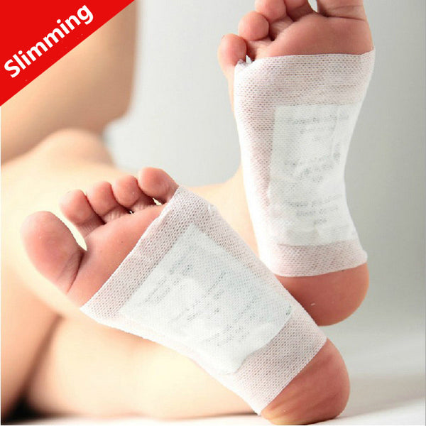 100Pcs/Lot=50pairs Healthy Slimming Foot Patches For Beauty Care