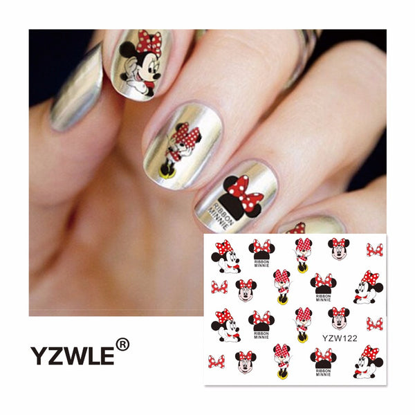 Cartoon Watermark Stickers Nail Art Water Transfer Tattoos