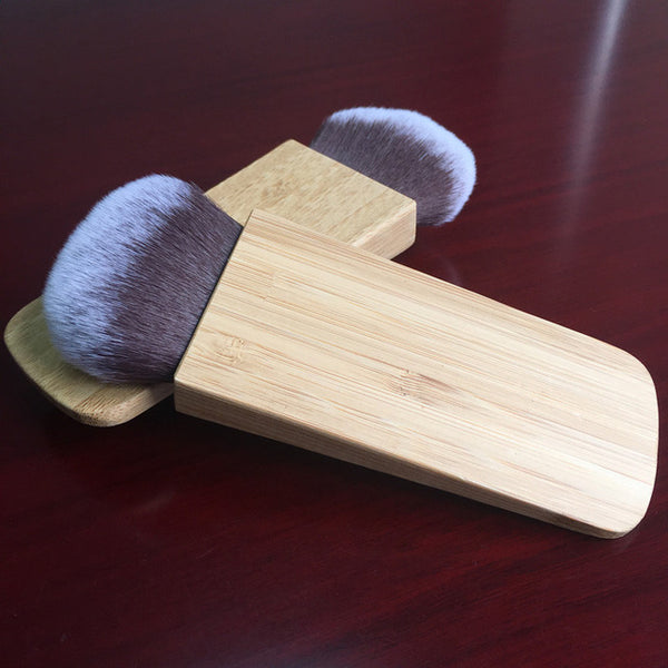 Professional  Bamboo Handle Brush For Make Up