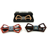 GUSLESON Hot Fashion mens wooden bow tie
