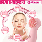 SKINEAT Silicone Facial Brush Waterproof Deep Cleansing Face Brush