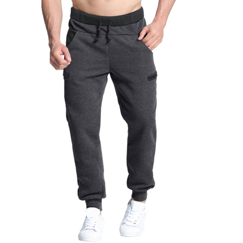 Winter Autumn Warm Velvet Sweatpants Mens