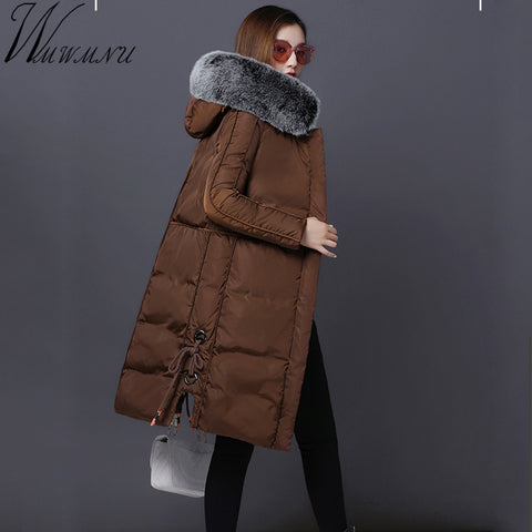 New women winter long jacket