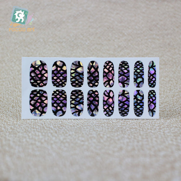 Rocooart Beauty 2017 Science Fiction Laser Fantacy Red Old Fashion Adhesive Nail Art Stickers