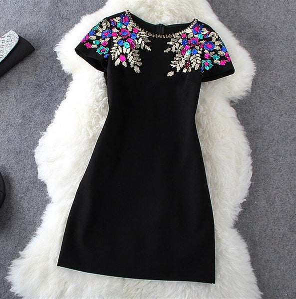 New Summer Sequin dress boho office dress