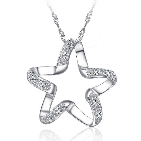 JEXXI 2017 New Arrival 925 Sterling Silver Chic Pendant Necklace For Wedding