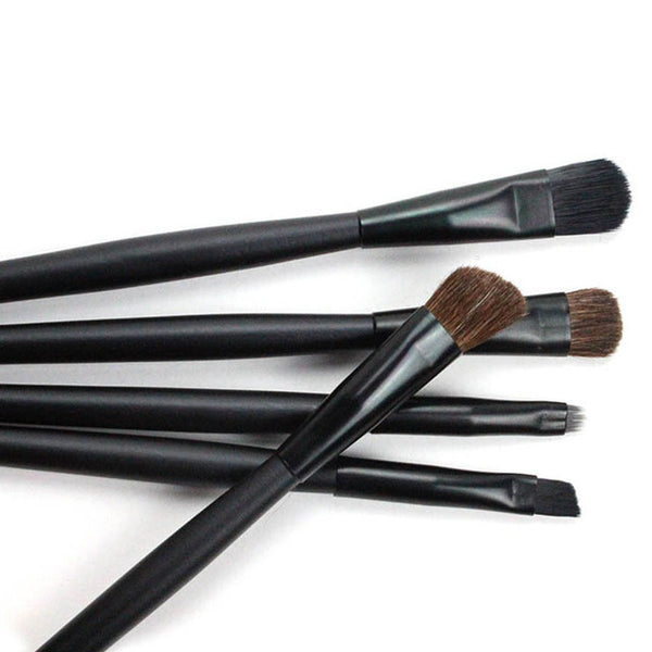 5pcs Eyes Makeup Brushes Set including Eyeliner Lip and Cosmetic Brush Kit
