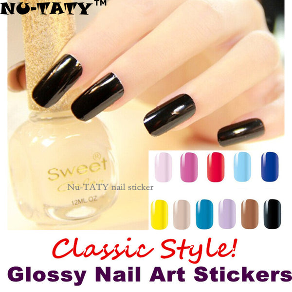 Nu-TATY  Classic Glossy Nail Art Sticker 11 Model 14pcs/set