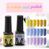 6 colors Gel Nail Polish Pure Soak Off UV LED gel Nail Polish