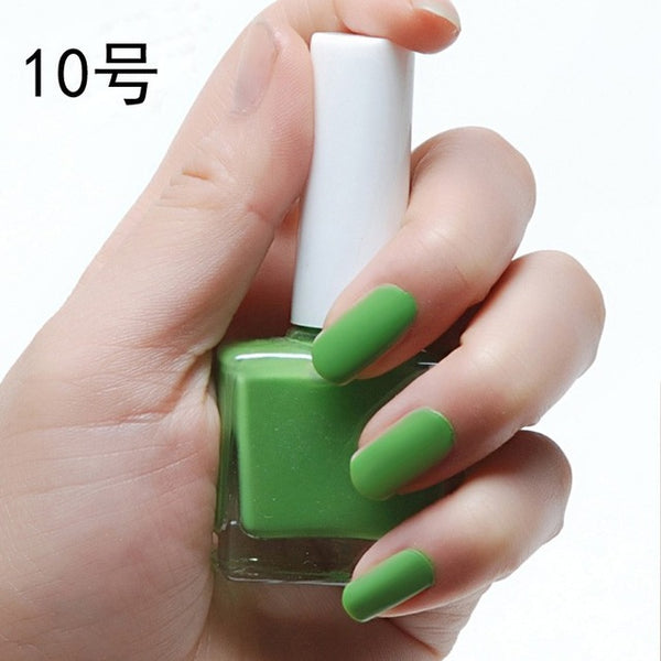 12ML Magic Candy Color Top Coat Frosted Matte Nail Polish