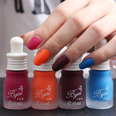 10ML Feeding bottle Candy Color Top Coat Frosted Matte Nail Polish