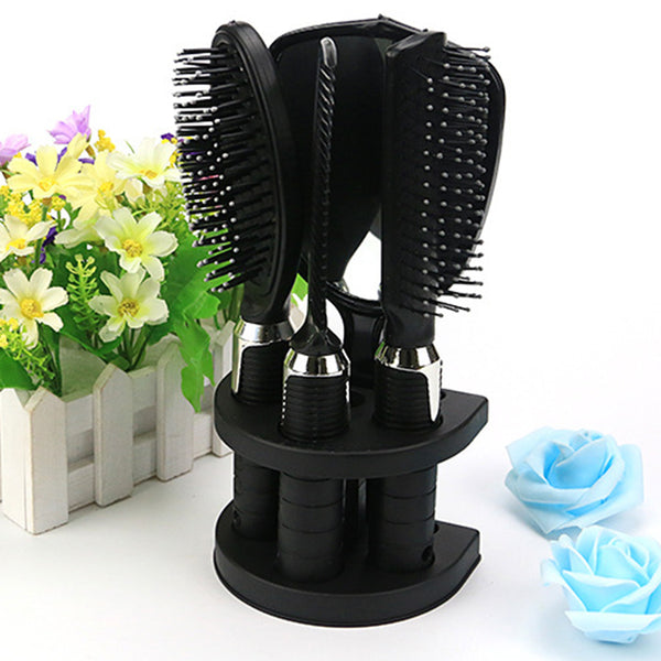 5pcs/lot Massage Comb Set Hairbrush For Hairdresser Salon