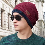 LNRRABC 6Colors Winter Wool Knitted Ski Outdoor Male Warm Fashion Hat