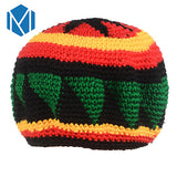 Miya Mona Novelty Knitted Jamaica Bob Marley Rasta Beanie For Men
