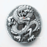 Chinese Dragon belt buckle Solid brass Loong Metal Belt