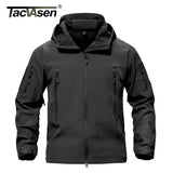TACVASEN Army Camouflage Men Jacket Coat