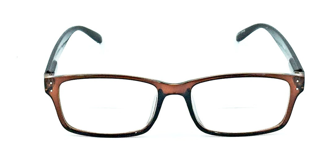 Madison Clear Bifocals - Brown
