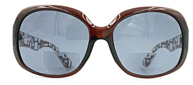 Gisele Readers Front View - Brown Designer With Brown Lens