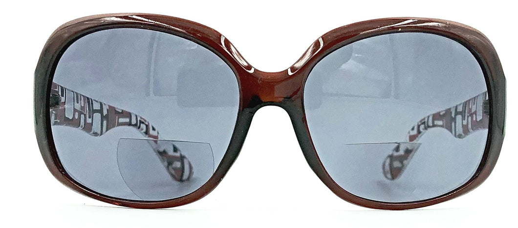 Gisele Bifocal Sun Readers - Brown
