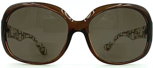Gisele Bifocal Sun Readers - Brown with Smoke Lens