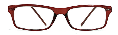 Harper Full Lens Clear Readers - Red