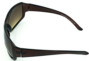 Paris Bifocal Sun Readers - Brown (Side View)