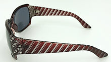 Sophia Bifocal Reading Glasses - Maroon (Side View)