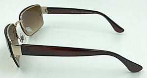 Frances Bifocal Sun Readers - Brown (Side View)