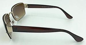 Frank Bifocal Sun Readers - Brown (Side View)