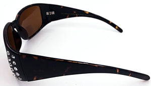 Jennifer Bifocal Sun Readers - Amber (Side View)