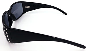 Jennifer Bifocal Sun Readers - Black (Side View)