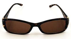 Ava Full Reader Sunglasses - Brown