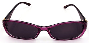 Ava Full Reader Sunglasses - Purple