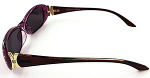 Ava Full Reader Sunglasses - Purple (Side View)