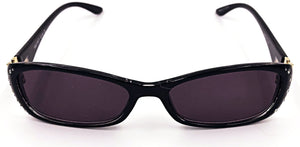 Ava Full Reader Sunglasses - Black