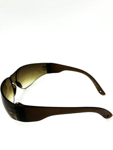 Redford Bifocal Sun Readers - Brown (Side View)