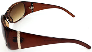 Emma Bifocal Sun Readers - Brown (Side View)