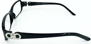 Isabella Clear Fashion Readers - Black (Side View)