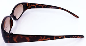 Mary Sue II Bifocal Sun Readers - Brown (Side View)