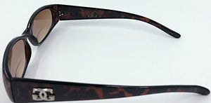 Mary Sue Bifocal Sun Readers - Brown (Side View)