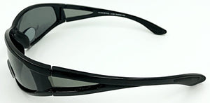 Marc Polarized Bifocal Sun Readers - Smoke (Side View)
