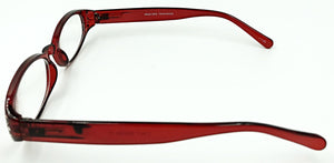 Mia Clear Fashion Readers - Red (Side View)