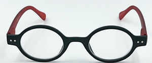 Aria Clear Readers - Black With Red Arms